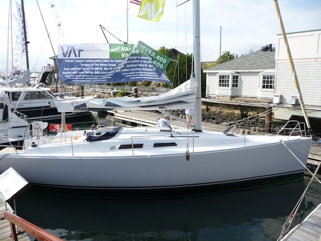 Wanchese built sailboat at boat show-10